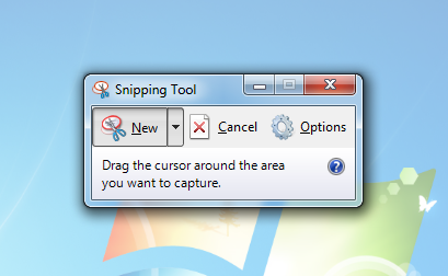 The Windows 7 Snipping Tool