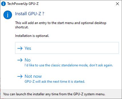 Run TechPowerUp GPU-Z