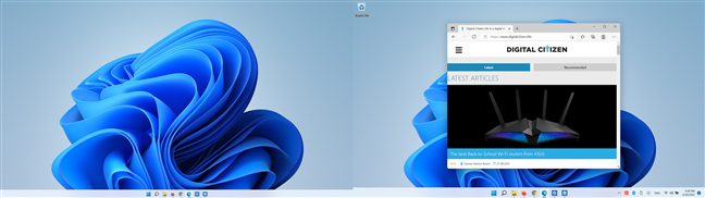 The Edge window is shown on the right monitor