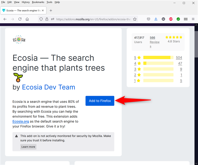 Add a search engine to Firefox