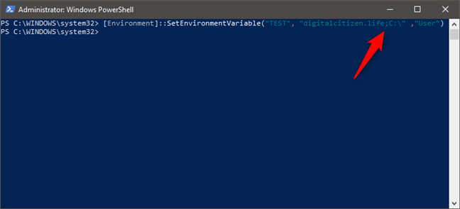 How to add multiple values to an environment variable in PowerShell