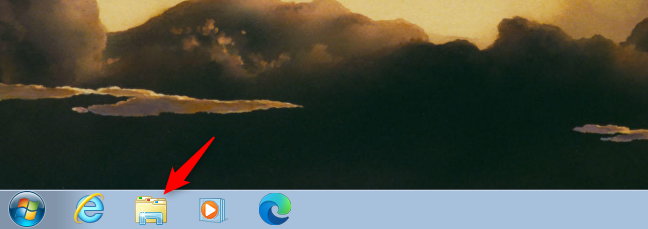 Use the Windows Explorer shortcut on the taskbar