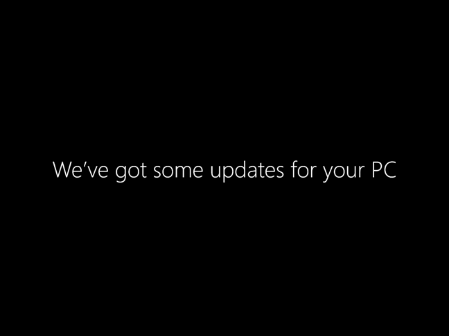 Windows 10 has some updates to install