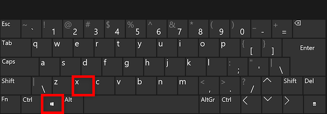 Use a keyboard shortcut to access the WinX menu in Windows