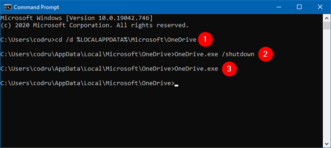 OneDrive force sync using commands in Command Prompt