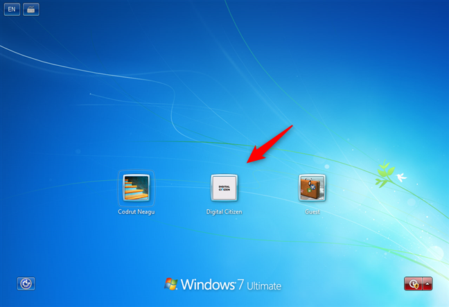 Windows 7 list of users shown on the sign-in screen