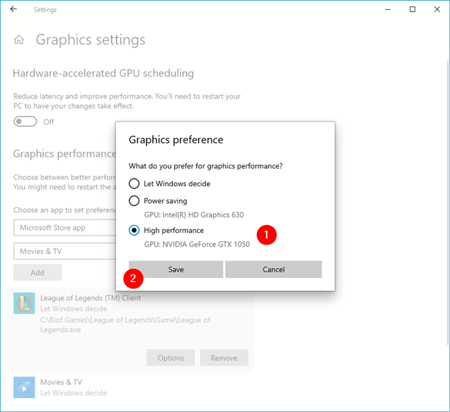 How to change what graphics card a game uses
