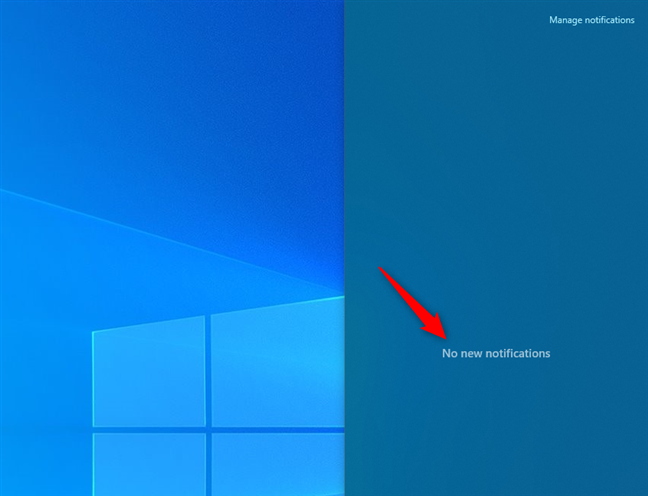 No notifications in Windows 10's Action Center