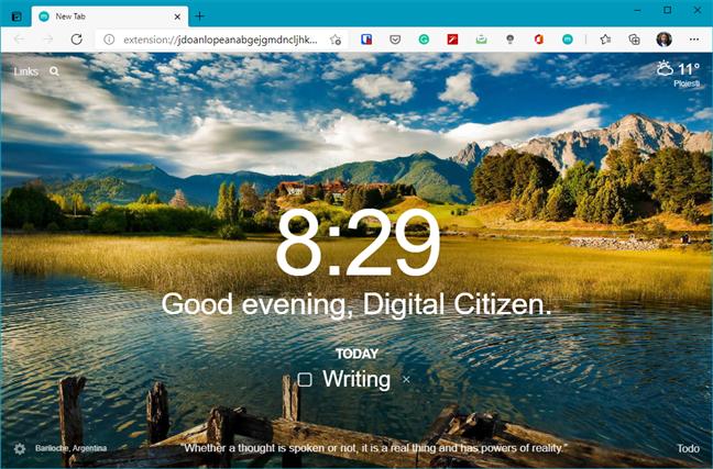 Momentum - Microsoft Edge Addons