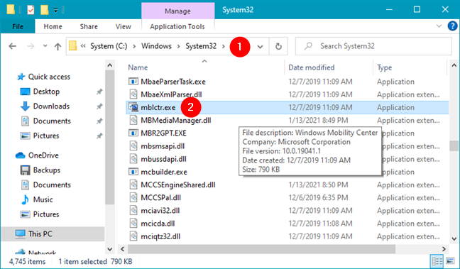 Where is Windows Mobility Center in Windows 10