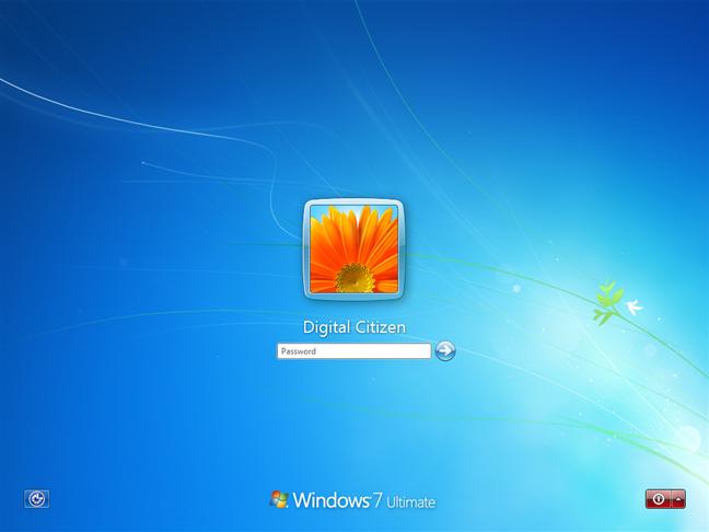 Windows 7 sign-in screen