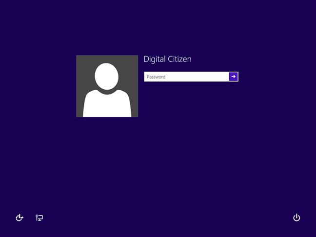 Windows 8.1 sign-in screen