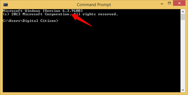 Windows 8.1 is shown as Version 6.3 in Command Prompt