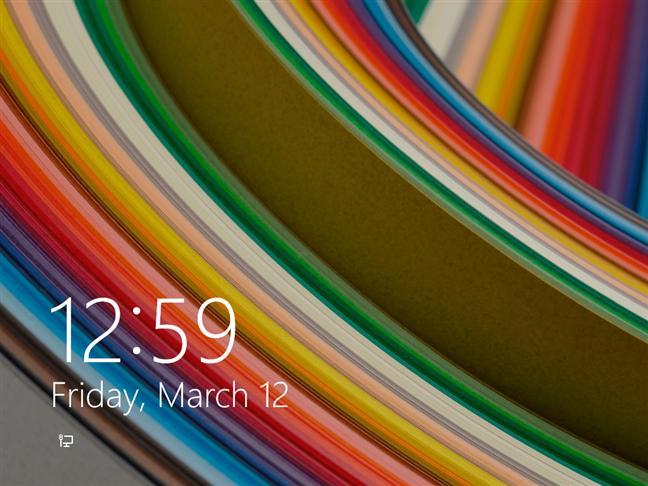 Windows 8.1 lock screen