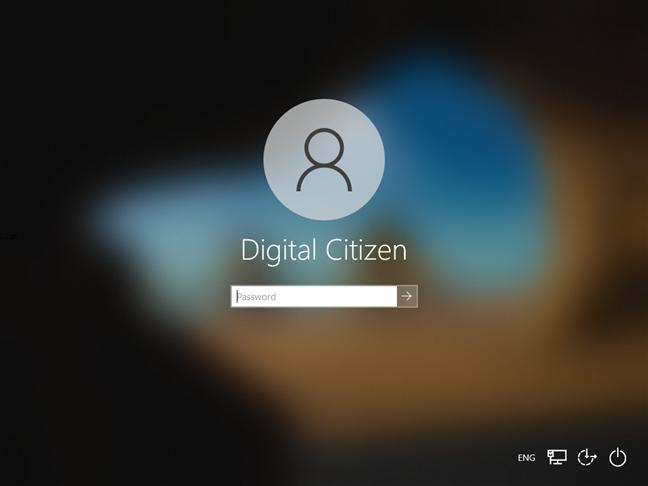Windows 10 sign-in screen