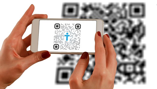 What is a QR code used for? Answer: to store information
