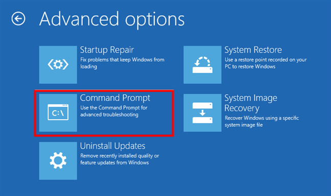 Starting the Command Prompt