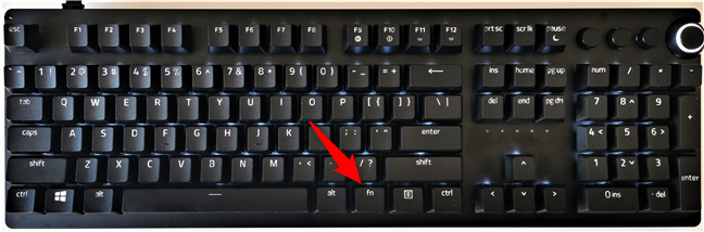 Fn (Function) key on a keyboard