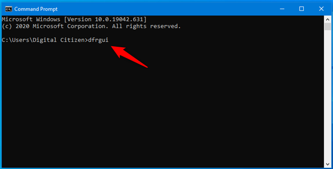 How to open Disk Defragmenter from Command Prompt