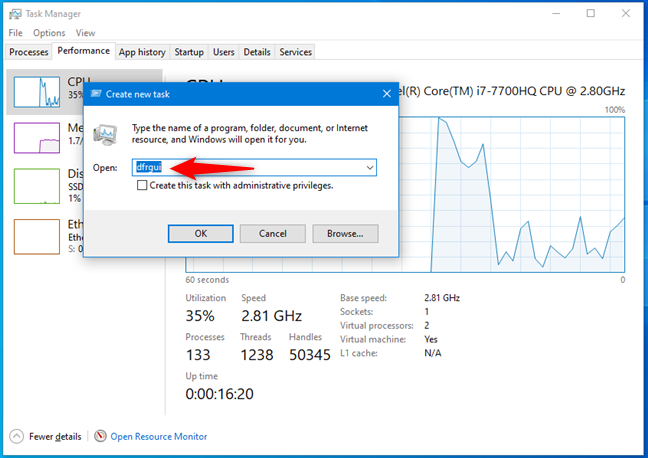How to open Disk Defragmenter from the Task Manager