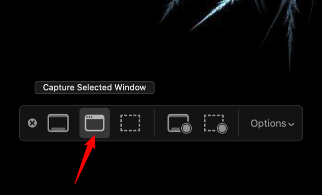 On Mac, take a screenshot of an app with Capture Selected Window