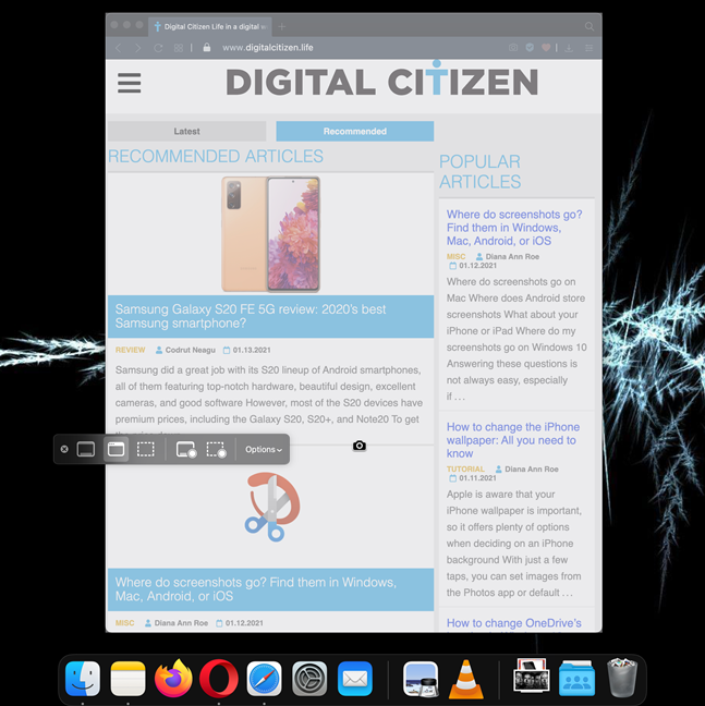Everything you see in an app window is saved as a screen capture on Mac
