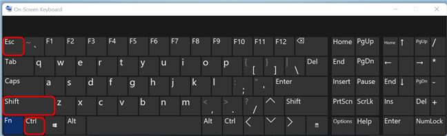 Press the Ctrl + Shift + Esc keys on your keyboard