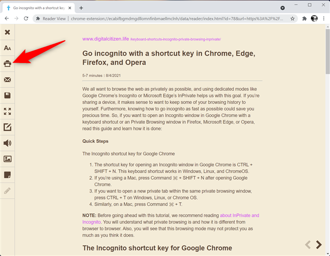 Use a Chrome extension to print without ads