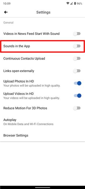 Cómo desactivar los sonidos en Facebook para Android