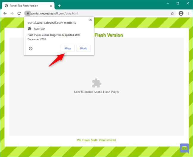 Adobe Flash Player: Plugin blocked