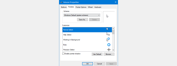 Mouse pointers