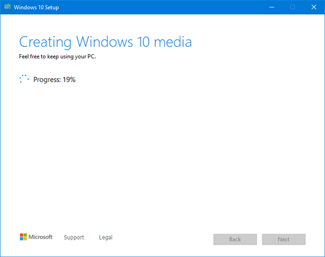 Creating the Windows 10 media