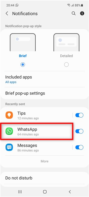 Tap on WhatsApp