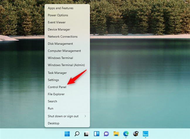 Adding a Control Panel shortcut in the WinX menu from Windows 11