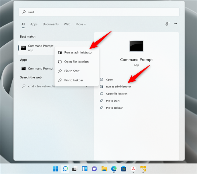 How to open Command Prompt as admin in Windows 11