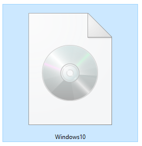 An ISO file with the Windows 10 Setup