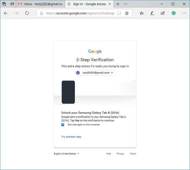 2-Step Verification for your Google account