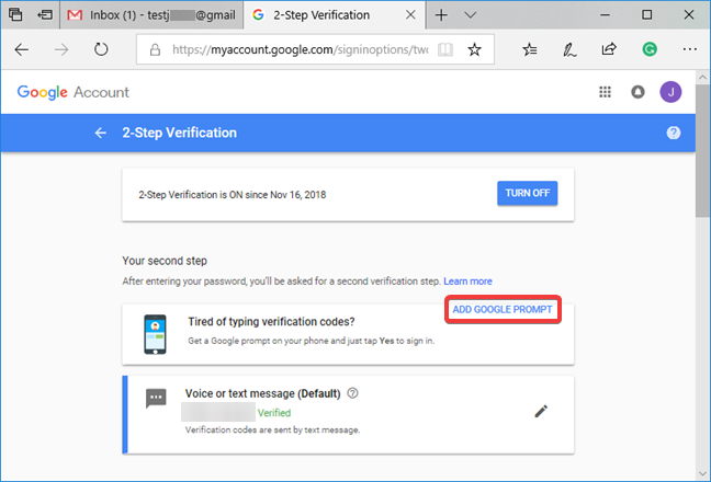 Add the Google Prompt to Google's 2-Step Verification