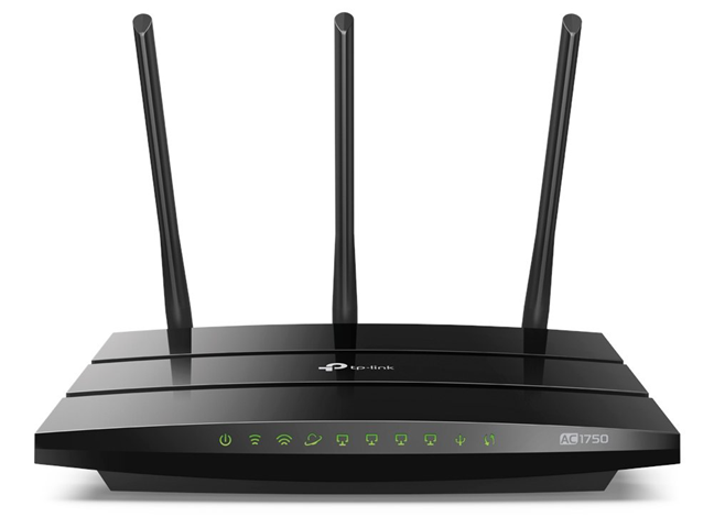 A TP-Link AC1750 wireless router