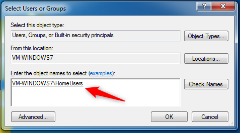Sharing a folder with the HomeGroup in Windows 7