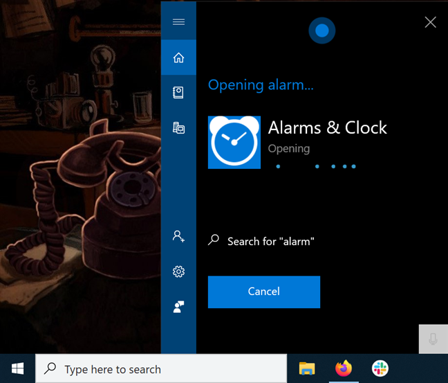 Use Cortana to open the app