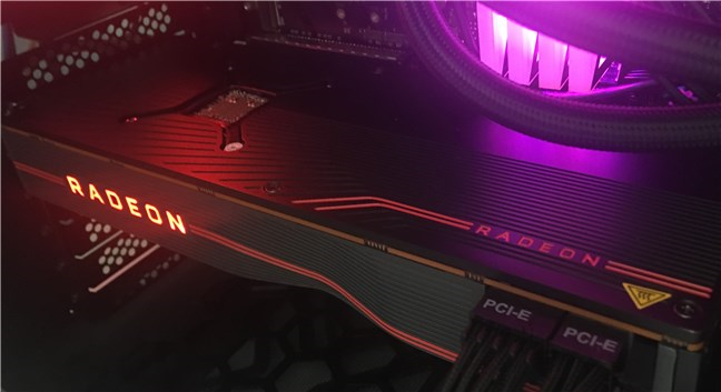 The AMD Radeon RX 5700 XT is a large video card