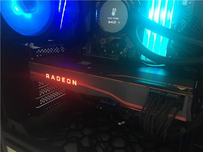 The AMD Radeon RX 5700 XT running