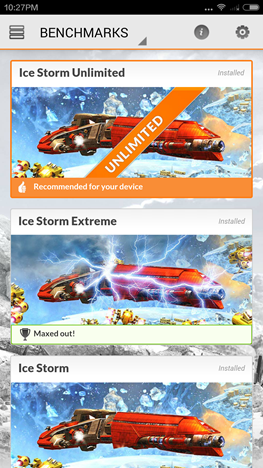 Android, Benchmark, apps, 3DMark Ice Storm