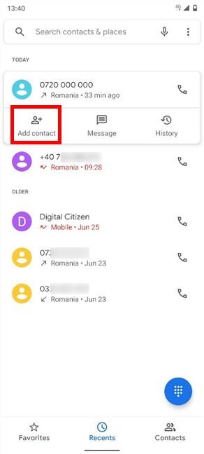 Start adding a contact