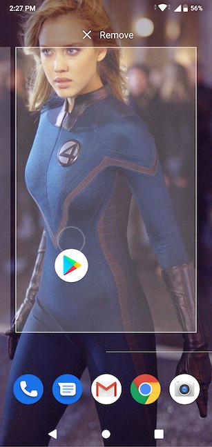 Coloque su icono en la nueva página de la pantalla de inicio