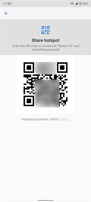 Scan the QR code or use the Hotspot password