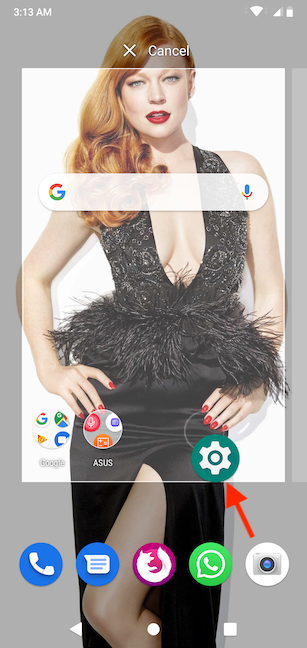 Drag and drop the icon to create a Home screen shortcut
