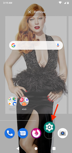 Drag and drop the Settings icon on an empty spot in the Favorites bar