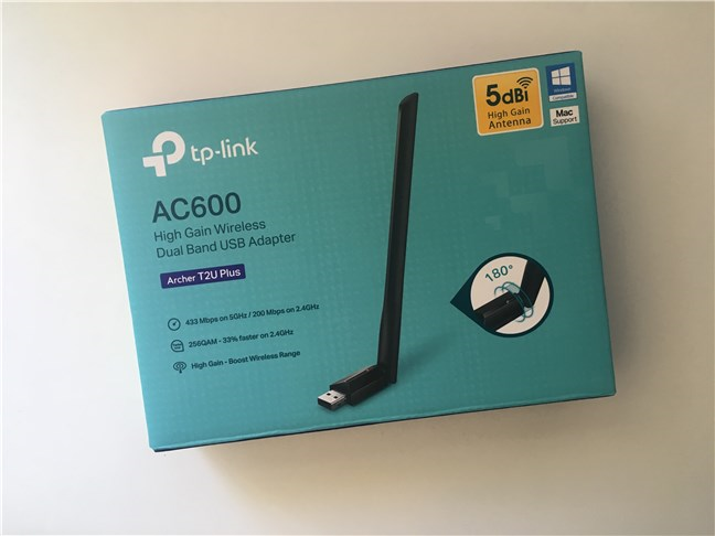 The package of the TP-Link Archer T2U Plus